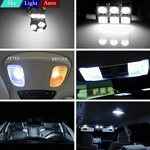 16pcs Led Premium Xenon White Light Interior Package Deal For Jeep Grand Cherokee 2011 2015