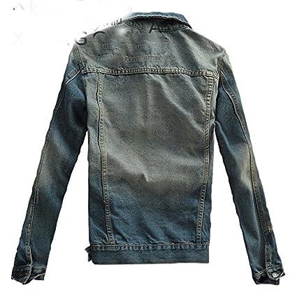 Amazon.com: Taylor Heart New design Solid Casual Slim Mens Denim Coat New Slim Fit Cowboy Chaqueta Bomber Jacket Men Cowboy Mens Jean Jacket: Clothing