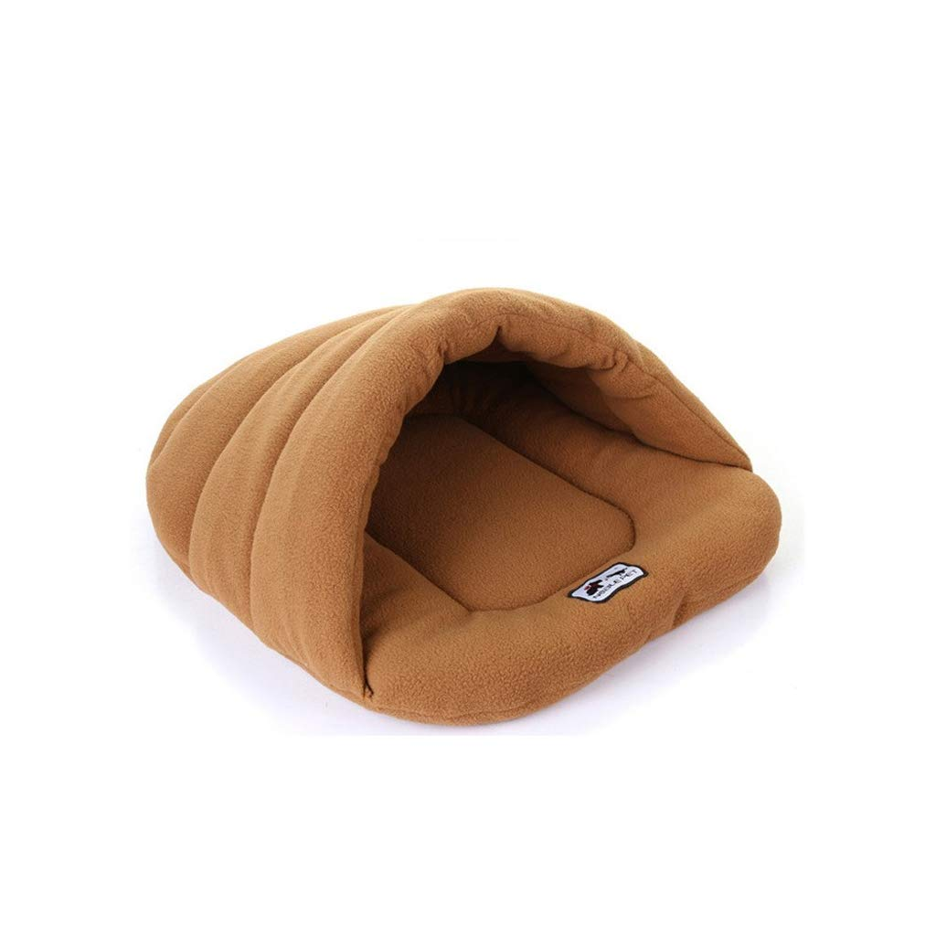 Camel M Camel M XBCWW Dog Bed, Sofa Pet Nest Warm Cat Bed Kennel Cat Sleeping Bag Washable Cat House,Red, bluee, Camel(S, M, L) (color   Camel, Size   M)