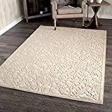 Orian Rugs Boucle Collection 394306 Indoor/Outdoor High-Low Biscay Area Rug, 7'9' x 10'10', Driftwood Beige