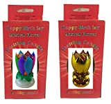 Neat Birthday Candle Exciting Birthday Candle 2 Pack (Rainbow and Gold)