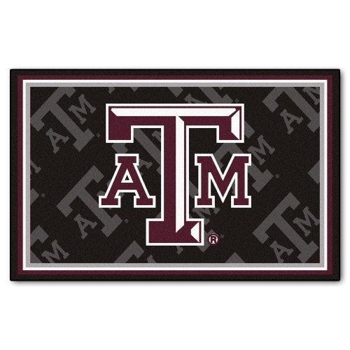 FANMATS NCAA Texas A&M University Aggies Nylon Face 4X6 Plush Rug by Fanmats