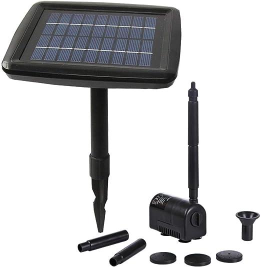 PK Green Bomba Agua Solar Estanque con Batería - 2W 70cm Fuente Solar para Estanque, Pozo, Jardín, Piscina - Bomba Sumergible: Amazon.es: Jardín
