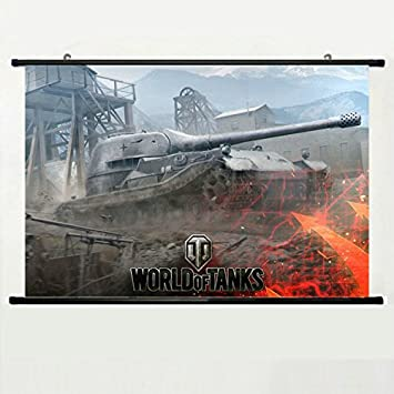 Kakemono aus Stoff Poster Stab oben und unten Ohne World Of Tanks ...