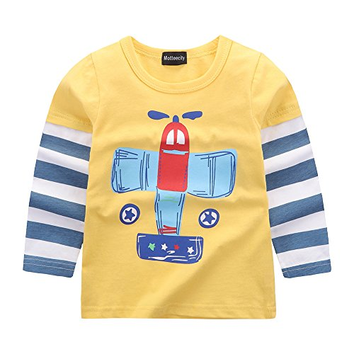 Fashion Little Boys' Cartoon Printed Patchwork Long Sleeve