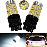 Anxingo 1200 Lumens Extremely Bright 144-EX Chipsets 3056 3156 3057 3157 LED Bulbs with Projector Xenon White
