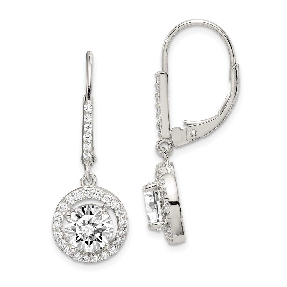 925 Sterling Silver Cubic Zirconia Cz Leverback Earrings Lever Back Drop Dangle Fine Jewelry Gifts For Women For Her by ICE CARATS