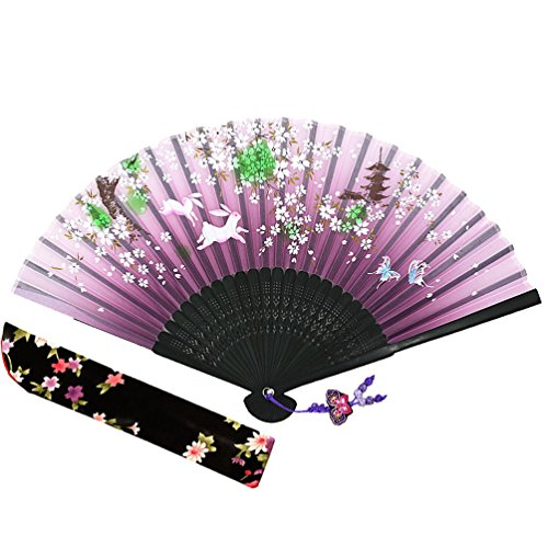 Wise Bird Chinese Japanese Folding Hand Fan, Fashion