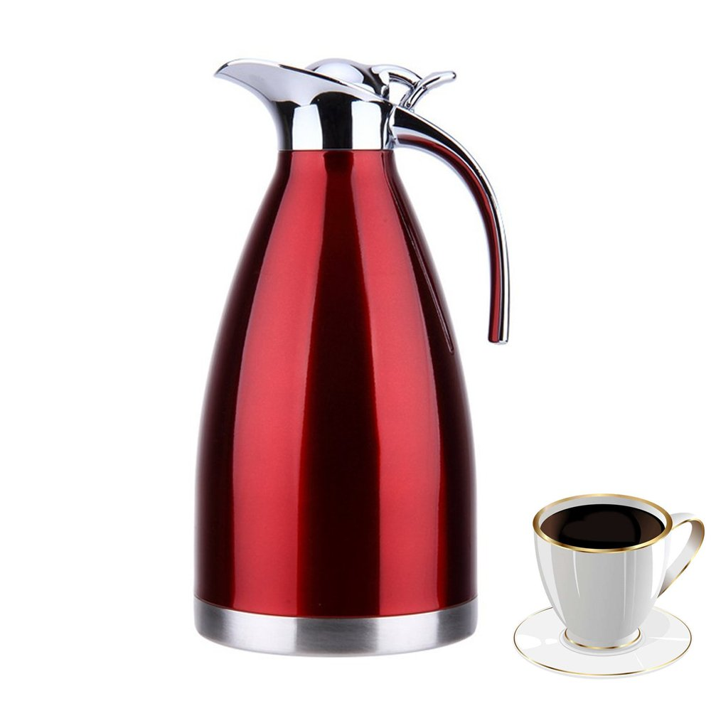 OnePine Thermal Coffee Carafe Jug Double Walled Vacuum Water Kettle Stainless Steel 1.5L/51 oz Insulated Carafe, Cold and Hot Home Vacuum Insulation Pot (Blue) KFH1-2