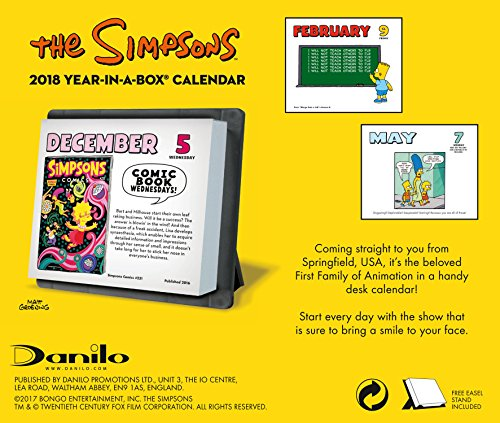 The Simpsons Official 2018 Desk Block Calendar - Page-A-Day Desk Format by Danilo Promotions Limited (Image #1)