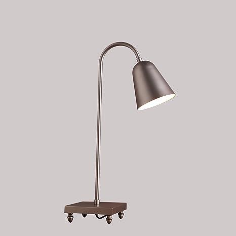 LONFENNE Carcasa metálica de la cabecera simple lámpara de ...