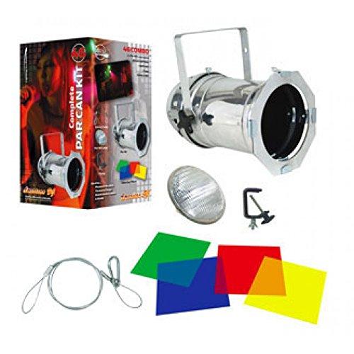 American DJ 46 Combo   1 x polished par 46, 1 x 200W lamp, 4-pak color gel filters, gel frame, clamp & safety (Urban Polished Lighting)