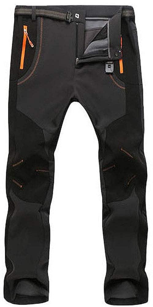 5714ed2e86b AbelWay Men s Outdoor Mountain Waterproof Windproof Fleece Ski Snow Pants  Hiking Trousers