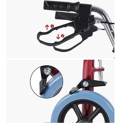 JYTB Walkers estándar Andador de Andador de Cuatro Ruedas Plegable ...