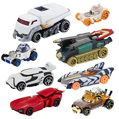 Hot Wheels (8 Pack Star Wars Cars Set Kids Star Wars Toys for Boys Girls Toy Cars Bulk