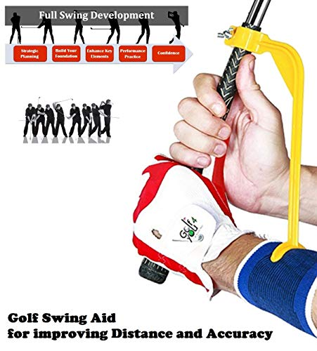 Golf Swing Practice Tool - Golf Swing Trainer Designed to Create The Correct Swing Positions, Including The Perfect Golf Wrist Hinge Position at The Top of Your Backswing (Best Golf Swing Tempo Trainer)