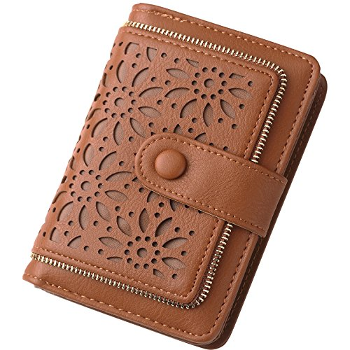 Fanaztee  Women RFID Blocking Vintage Organizer Wallet for Ladies Small Purse with Multi Card Holder , One Size , Brown  ()