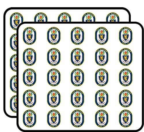 (US Navy USS Hopper DDG-70 Military Veteran Served 50 Pack Sticker for Scrapbooking, Calendars, Arts, Album, Bullet Journals and More 1