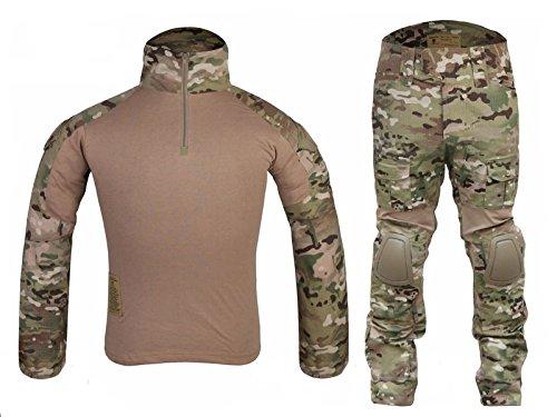 ilitary Emerson Gen2 G2 Men Shooting Hunting Combat BDU Uniform (Shirt & Pants With Protective Elbow Knee Pads) MC CP (XXL) ()