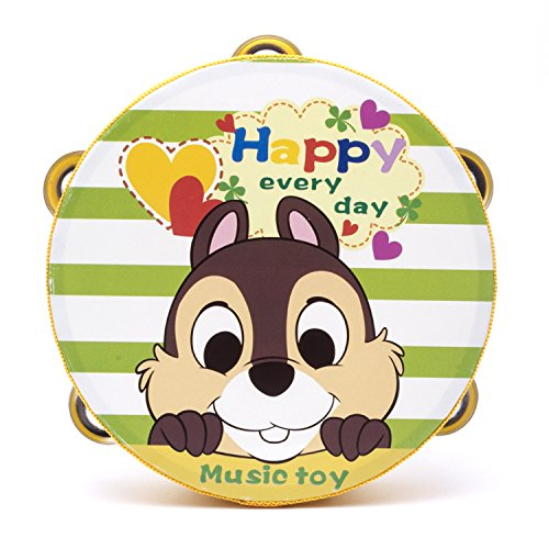 Yingealy Educational Toy 18cm Baby Hand Drum Wooden Flower Tambourine Percussion Instrument (Squirrel) by Yingealy (Image #5)