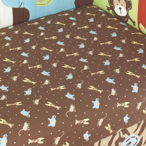 Zoo Zoo Fitted Sheet by Too Good by Jenny (Zoo Zoo Too Good)