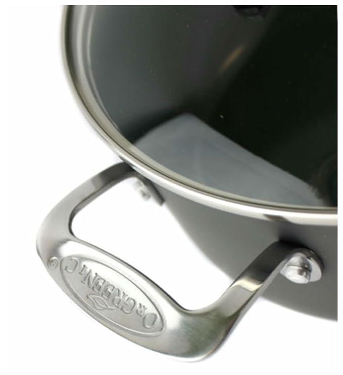Orgreenic Juego de anodizado antiadherente de cocina juego de ollas ...