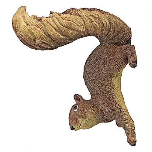 Design Toscano NG34034 Simone The Squirrel Woodland Decor Hanging Garden Statue, 8 Inch, Full Color (Squirrel Yard Decor)