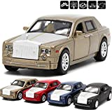 rolls royce model kits - GreenSun 1:32 Scale Rolls Royce Phantom Alloy Diecast Car Metal Toys for Children with Sound Light Pull Back Function Baby Toys