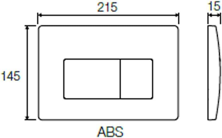 VS0871301 VALSIR PLACCA ORIGINALE BIANCA PER CASSETTA TROPEA 3 ART