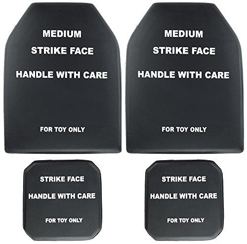Plate Shock - SportPro Foam Dummy SAPI Plate Medium Size with Side Plate Set for Airsoft Vest - Black
