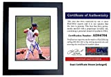 Miguel Cabrera Signed - Autographed Florida Marlins - Miami Marlins 8x10 inch Photo BLACK CUSTOM FRAME - 2003 World Series Champion - 2x MVP - PSA/DNA Certificate of Authenticity (COA)