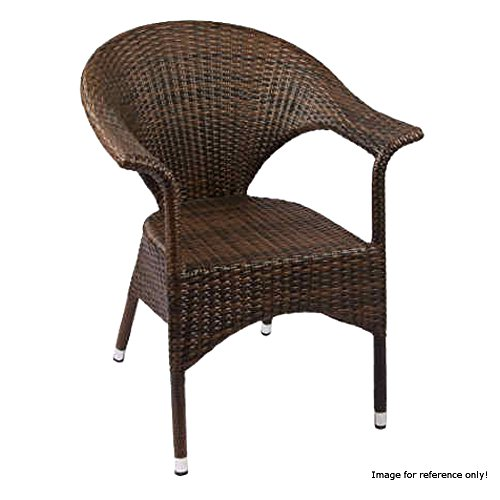 JMC Furniture Leon Armchair Outdoor Use with Synthetic Espresso Weave Set & Back (Leon's Outdoor Furniture)