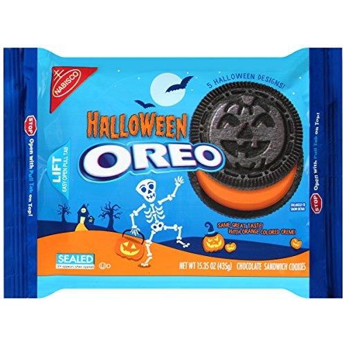 Oreo Halloween Chocolate Sandwich Cookies, Family Size 20 Ounce Package (Easy Halloween Cookies)