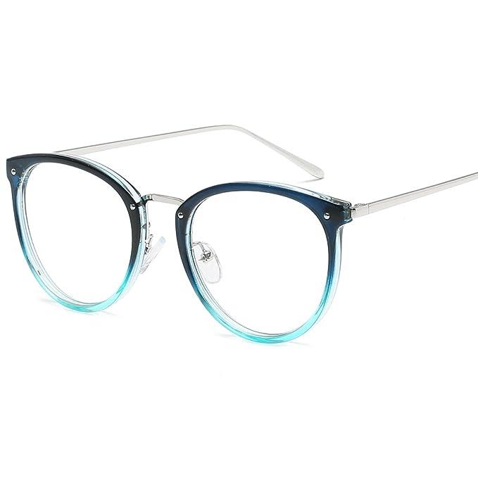 sports shoes 9845d c2ae5 VEVESMUNDO Brille Rahmen Retro Großer Brillenrahmen metall Damen Herren  Retro Vintage Klassisc Runde Klare Eyewear Ohne