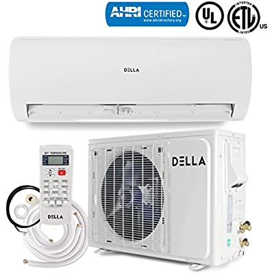 DELLA 24,000 BTU (17 SEER) Inverter Mini Split System Air Conditioner + Heat Pump Set Wall Mount Ductless w/Remote AHRI Certificate