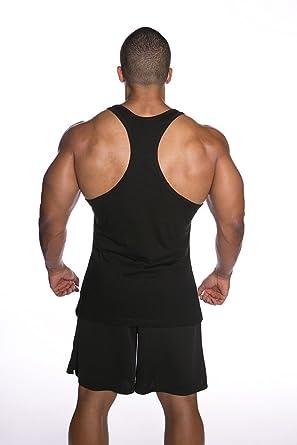c2f4921024d44d Amazon.com  Men Bodybuilding Sleeveless Sport Tshirt Y Back Gym Workout  Tank Tops Cotton  Clothing