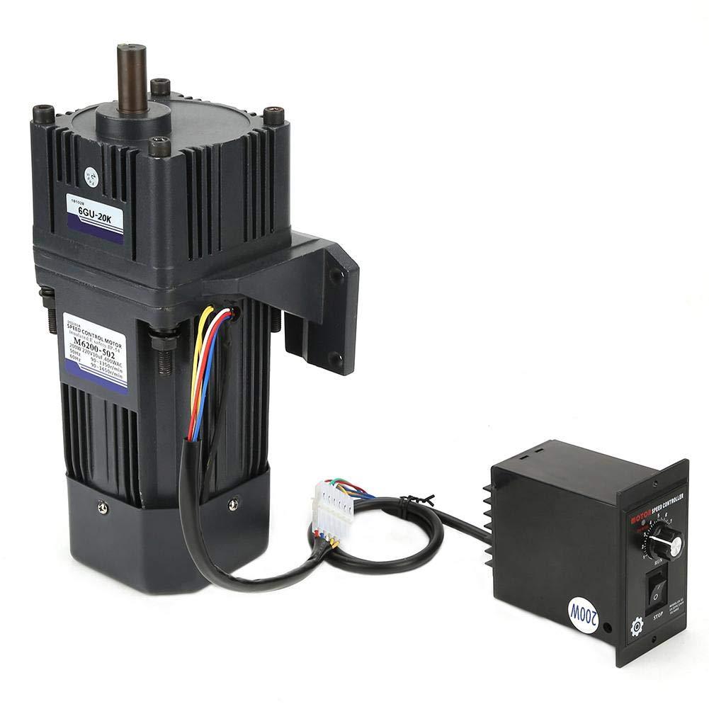 Untersetzungsmotor, AC 220V Untersetzungsmotor CW CCW 200W M6200-502 4pÃles with Gearbox Governor(Untersetzungsverhältnis 20k)