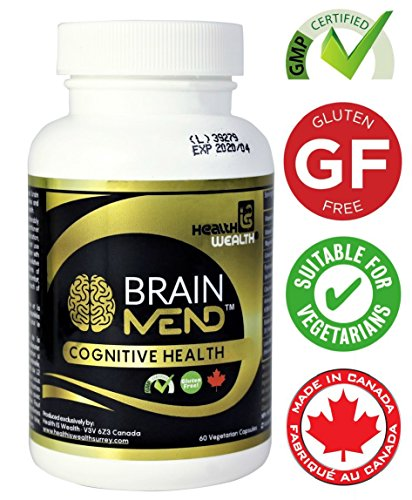 BRAINMEND Premium Brain Health & Memory Supplement, Best Herbal Nootropic with Bacopa, Ashwagandha, Lion's Mane – For Brain & Cognitive Function, Memory Improvement & Enhancement (Licensed Product)