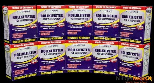 10 PAKETE Vlieskleister Rollkleister Kleister für Vliestapeten Vlieskleber