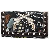 BNB Natural Camo® Western Rhinestone Guns Fashion Wallet (BROWN), Bags Central