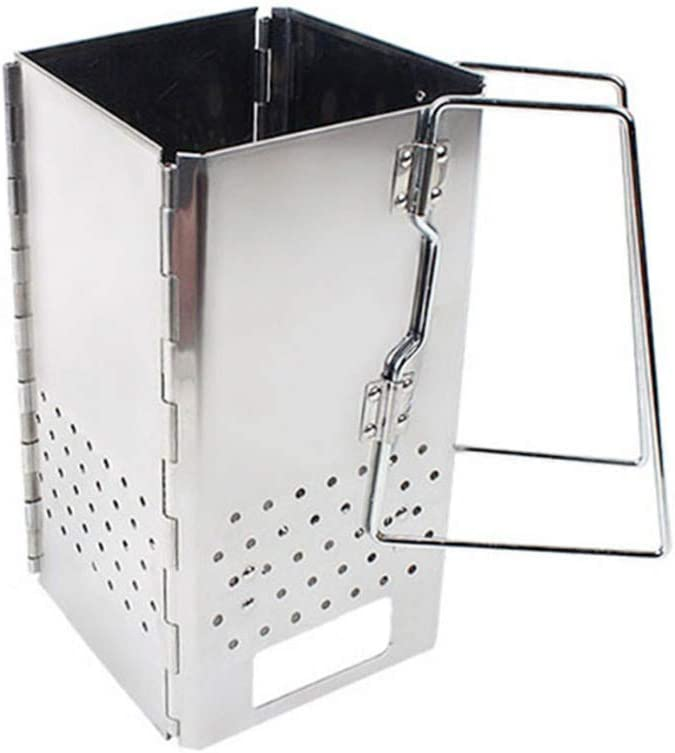 Shopps Estufa de leña de carbón de leña para Barbacoa, Estufa de Acero Inoxidable, Resistente a Altas temperaturas, Resistente a la corrosión, Cocina Adecuada para Acampar al Aire Libre