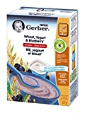 Gerber Yogourt and Blueberry Cereal, Complete, Stage 3, 227g box (6 pack)