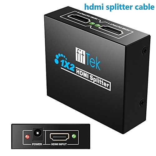 fitTek Hdmi Spliter,Hdmi signal Splitter,Hdmi Splitter,Hdmi switch,1x2 hdmi Splitter,Hdmi switch box,Hdmi Switch Splitter fitTek® Selector Switch Box by fitTek (Image #7)