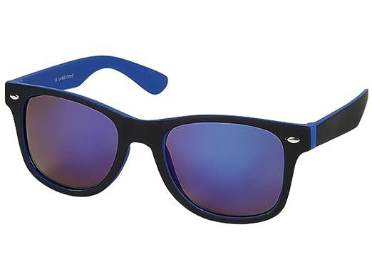 Sonnenbrille verspiegelt schmal blau BRsws8E