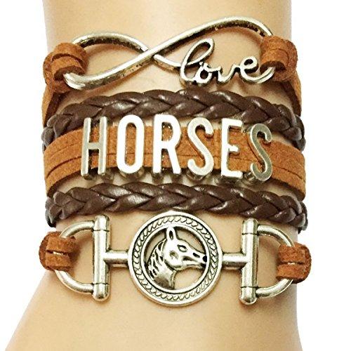 Dolon Infinity Love Horse Riders Bracelet Brown