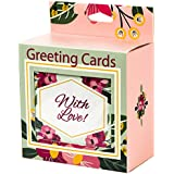 Premium Greeting Cards 48 Pack Assorted With Envelopes, All Occasion Greeting Cards: With Love, Birthday, Thank You, Congratulations, It's A Boy, Baby Girl, Get Well, New Home, Wedding