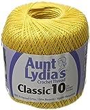 Coats Crochet Aunt Lydia's Crochet, Cotton Classic Size 10, Golden Yellow