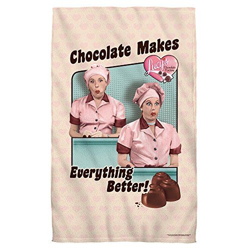 Lucy Towel Love I (Friends And Chocolate -- I Love Lucy -- Beach Towel)