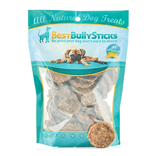 (Best Bully Sticks 100% Beef Bully Stick Slider Crunchy Dog Treats (8oz.) - Made of All-Natural Bully Sticks - Bite-Sized & Highly Digestible)