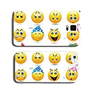 Vector set of smiley icons cell phone cover case iPhone6